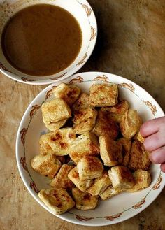 Roasted Tofu With Dipping Sauce (perfect for gluten free diet too!)