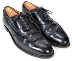 ALDEN Black Wingtip Oxford Mens Dress Shoes Size US 10.5 A/C #Alden #Oxfords