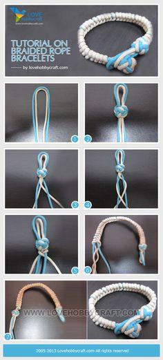 Tutorial on braided rope bracelets