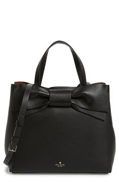 Crushing on this gorgeous leather Kate Spade handbag with an over-sized bow  for an 42b886c17b4