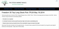 Freedom 35 Top Long Stock Pick TPLM May 19 2014