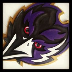 Large CAW CAW 3D Baltimore RAVENS Football sign Logo Wooden Plaque 24x12 Layered Wood Wall on Etsy, $60.00