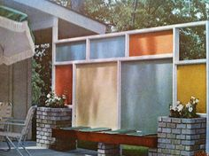 The Mid Century Modern Fence @Jean Vitello Albice . Indy