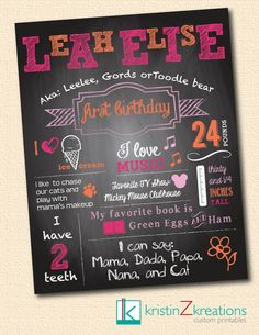 Custom Poster/Chalkboard Design vintage by kristinZkreations, $20.00