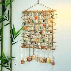 metalen kunst aan de muur muur decor, handgemaakte shell wandtapijt muur decor – EUR € 71.99