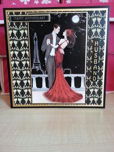 Art Deco Anniversary Husband 8x8