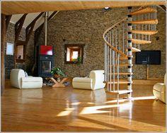 Moderne Treppe Aus Holz, Eisen Und Glas Für Den Innenbereich   Neue  Dekoration U0026 Schlafzimmer Dekoration U0026 Wohnzimmer Dekoration U0026 Badezimmer  Dekoration ...