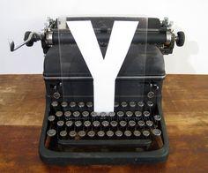 Vintage Letter Y by twentytimesi on Etsy. $12.00, via Etsy.