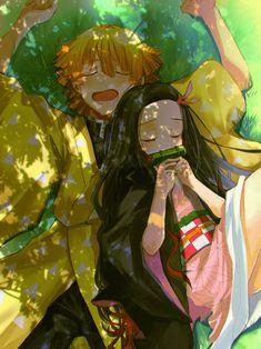 Demon Slayer Kimetsu No Yaiba Zenitsu Manga Anime, Anime Demon, Otaku Anime, Anime Love, Anime Guys, Kawaii Anime, Hxh Characters, Dragon Slayer, Slayer Anime