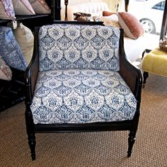 Kensington chair with Les Indiennes Dominique fabric