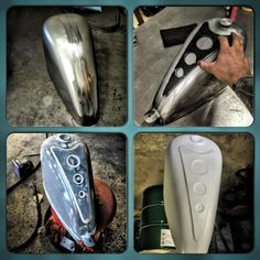 Custom frisco tank work courtesy of Tail End Customs