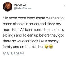 "Umm my mom made us clean for the cleaning lady because "" they paid her to clean and not pick up after us"" - as an adult I understand this now. Black People Memes, Black Memes, Funny Quotes, Funny Memes, Hilarious, Some Jokes, Im Weak, Laughing And Crying, Insta Posts"