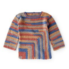 Yarnspirations is the spot to find countless free easy crochet patterns, including the Red Heart Must-Have Crochet Mitered Tunic. Browse our large free collection of patterns & get crafting today! Crochet Men, Freeform Crochet, Crochet Edgings, Crochet Tops, Crochet Motif, Crochet Pullover Pattern, Crochet Patterns, Crochet Poncho, Mens Poncho