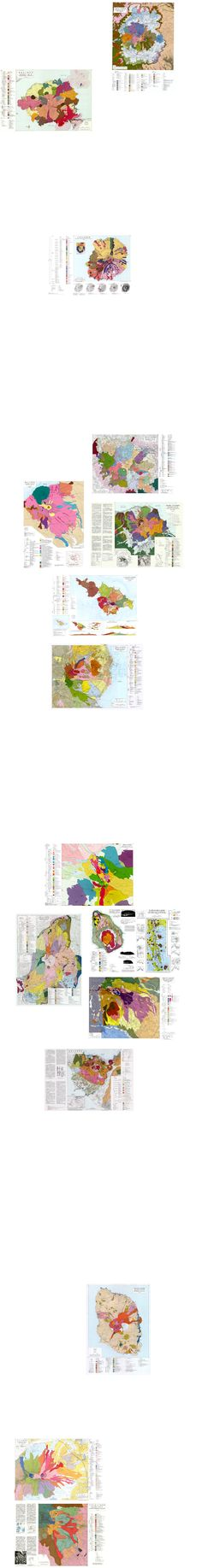 Geological maps of volcanoes in Japan