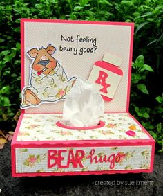 Sue's Stamping Stuff: Not feeling beary good?