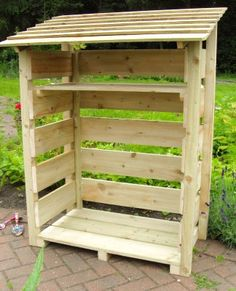 Stylish & sturdy log stores, to season & dry firewood, UK built with premium grade FSC PEFC treated timber & available to buy now online with FREE delivery Firewood Logs, Firewood Rack, Firewood Storage, Garden Maintenance, Backyard, Patio, Woodworking Shop, Outdoor Storage, Gardens