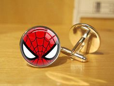Marvel Comic Superheroes Cuff Links Silver Men Jewelry Accessories Cufflinks