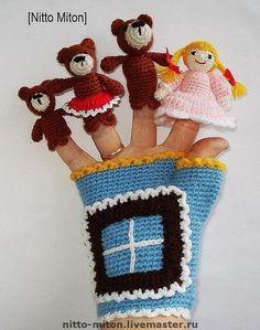 Кукольный театр ручной работы. Ярмарка Мастеров - ручная работа Пальчиковый театр / Вязаная игрушка. Handmade.