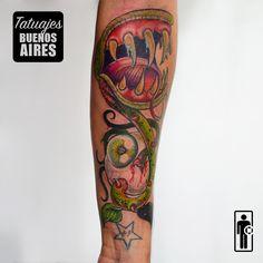 Tatuaje manga, diseño de planta carnivora en el antebrazo a color, estilo neotradicional, full color: #tattoo #tatuaje #planatas #vegetacion #flores #ojo #brazo #dientes #hojas #hombre #TatuajesBuenosAires