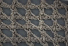 Tunisian Crochet: Tunisian Chain Lace