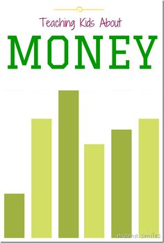 Great tips for teaching kids about money -the value of money, saving money, and frugal living.
