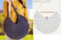 Discover thousands of images about Best 12 Bolsa de crochê by maryann maltby – Artofit – SkillOfKing. Crochet Circles, Crochet Round, Crochet Handbags, Crochet Purses, Diy Crochet Bag, Crochet Stitches, Crochet Patterns, Crochet Shoulder Bags, Bag Pattern Free