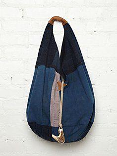 TK Garment Supply Vintage Denim Hobo