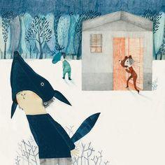 Colaboración como ilustradora sobre los poemas de Pequeño Buzo Somnoliento, escrito por Alex Nogués