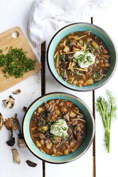 Grandma's Dried Mushroom Soup