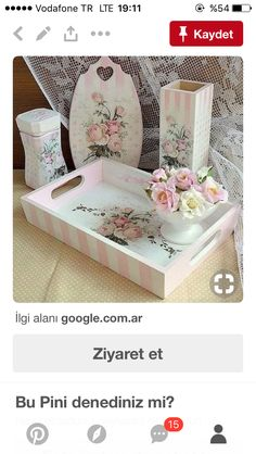 Wood Projects, Projects To Try, Painted Trays, Resin Artwork, Decoupage Art, Shabby Chic Bedrooms, Ideas Para, Diy And Crafts, Toddler Bed