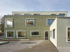 Kubische Komposition - Wohnhäuser mit Kindergarten, Guggenbühl