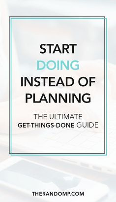 The essence of getting things done (GTD) is simple - you have to do them. This is the ultimate productivity guide for you on how to start doing instead of planning and how to achieve your goals instead of procrastinating. Work Life Balance, The Plan, How To Plan, To Do Planner, Life Planner, Mental Training, How To Stop Procrastinating, Startup, Time Management Tips