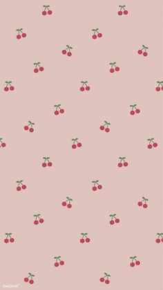 Red hand drawn cherry pattern on pink mobile phone wallpaper illustration Cute Pastel Wallpaper, Soft Wallpaper, Cute Patterns Wallpaper, Iphone Background Wallpaper, Iphone Wallpaper Vsco, Aesthetic Pastel Wallpaper, Aesthetic Wallpapers, Aesthetic Gif, Aesthetic Grunge