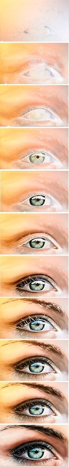 How to paint a realistic eye with watercolor!  http://www.youtube.com/watch?v=WMgy8FvCNqU