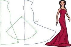 выкройка платья со шлейфом - Поиск в Google