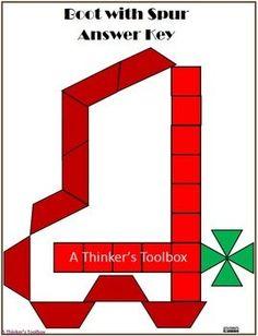 Pattern Blocks Western Puzzles