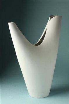 Vase by Stig Lindberg for Gustavsberg.  1950s Swedish.