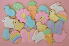 a pretty spring bunch of cookies
