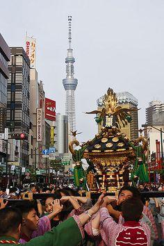 三社祭2012 Japanese Festival, Matsuri Festival, Party Hard, Body Craft, Tokyo Skytree, Tokyo Japan, Japanese Culture, Emperor, Japan Travel
