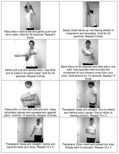 exercise for health exercises for shoulder impingement Shoulder Rehab Exercises, Frozen Shoulder Exercises, Neck And Shoulder Stretches, Shoulder Workout, Dumbbell Shoulder, Rotator Cuff Exercises, Back Pain Exercises, Gym Douce, Tendinitis