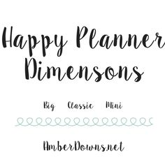 Happy Planner | Amber Downs