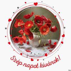 Piros és szürke körök és a szív Good Morning, Templates, Vegetables, Night, Food, Buen Dia, Stencils, Bonjour, Essen