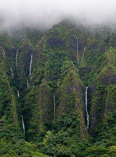 Koolau Mountains & waterfalls