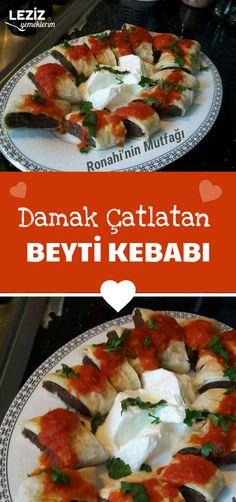 Damak Çatlatan Beyti Kebabı – Vegan yemek tarifleri – Las recetas más prácticas y fáciles Nut Free, Grain Free, Turkish Recipes, Iftar, Empanadas, Meat Recipes, Paleo, Food And Drink, Yummy Food
