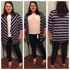 MEGAN,MORE THINGS I'VE KEPTJust black Adorra skinny jean. Bastille tulip sleeve blouse. Addison striped knit cardigan <3 ANH #stitchfix I still need to find a white top I can wear under the cardigan. The tulip sleeve blouse is a cream color and the stripes on the cardi are white. <3ANH