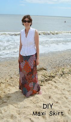 Quick and easy DIY maxi skirt - convert a dress into a skirt in minutes
