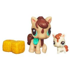 LITTLEST PET SHOP – CUTEST PETS – BABY STEPS WITH MOMMY - Mommy Horse and Baby Horse Set