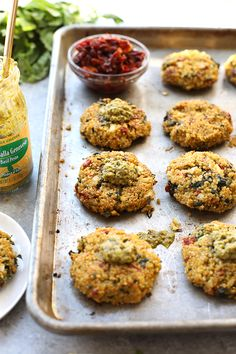 Start patio season off right with these healthy quinoa patties.They are vegetarian, packed with protein, and you can bake them in the oven or on the grill. So, go make theseSun Dried Tomato Quinoa Patties, stat!