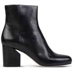 Maison Margiela 22 Ankle Boots (£545) ❤ liked on Polyvore featuring shoes, boots, ankle booties, black, black boots, black bootie, short boots, leather bootie and leather ankle booties