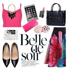 """""""Belle de soir"""" by helenevlacho ❤ liked on Polyvore featuring Ted Baker, Apple, Lancôme, Charbonnel et Walker, GUESS and shein"""
